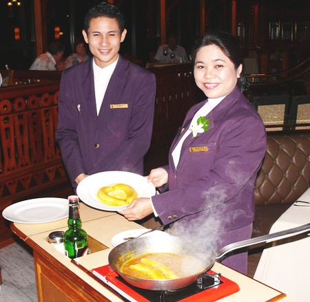 Royal Cliff's Grill Room and Wine Cellar's crepes are exquisite.