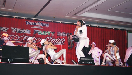 It's an extravagant show at the Dust Thani Pattaya.