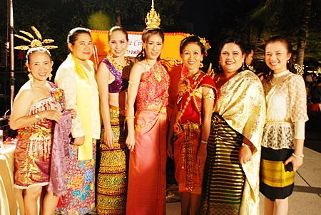 Beautiful women dress in their best attire at the Amari Orchid Resort and Tower Pattaya.