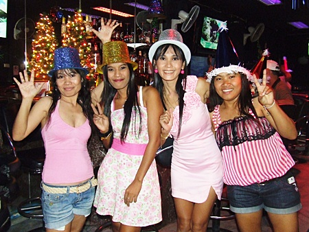 It's a pink New Year on Walking Street.