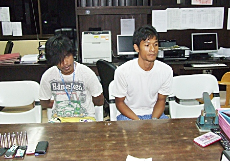 Chaiyaporn and Sorapong have been charged with possession with intent to sell, as well as illegal possession of a firearm.