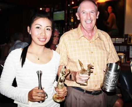Gold medal winners: Pat Regan, right, and Yui Bietry.