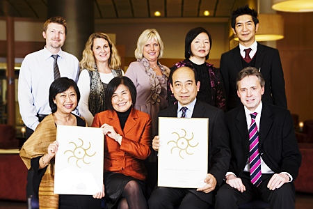 """For the seventh consecutive year Thai Airways International in Norway has won the prestigious award for """"Best Intercontinental Airline"""" in the Norwegian Grand Travel Award 2011."""