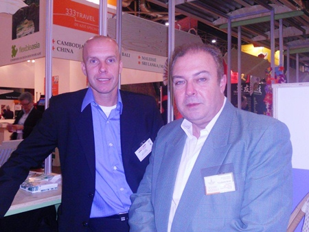 René Pisters, general manager of the Thai Garden Resort and René Punselie, marketing manager of Special Journey Thailand visited the Vakantie Beurs (Holiday Fair) in Utrecht, the Netherlands from 11 - 16 January. In corporation with the Tourist Authority of Thailand based in the Netherlands, China Airlines, EVA Airline, Stip Reizen and other exhibitioners they participated in the Thailand Pavilion to promote Pattaya and the Eastern Seaboard. The fair was visited by 122,100 visitors and clearly Thailand is still the number one destination for Dutch travelers.