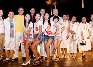 """Sweet White"", the only chic beach party in Pattaya was held at the Beach Club of the Pullman Pattaya Aisawan on the first Saturday of February. More than 300 people attended the fun evening. They were entertained with fabulous music as played by DJs The Double Sweets and Rocky Bongoboy. A host dignitaries were seen enjoying themselves including H.E. Felipe Frydman, Ambassador of Argentina, H.E. Paulo Cesar Meira de Vasconcellos, Ambassador of Brazil, Runcha Boribalburibhand, Ramida (Becky) Russell Maneesatiean, Thospol Sirivivat, Yoshi C-Quint, Pisan (Mai) Srimankong along with many other celebrities."