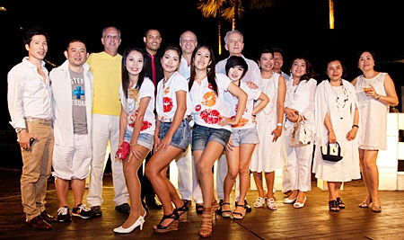"""""""Sweet White"""", the only chic beach party in Pattaya was held at the Beach Club of the Pullman Pattaya Aisawan on the first Saturday of February. More than 300 people attended the fun evening. They were entertained with fabulous music as played by DJs The Double Sweets and Rocky Bongoboy. A host dignitaries were seen enjoying themselves including H.E. Felipe Frydman, Ambassador of Argentina, H.E. Paulo Cesar Meira de Vasconcellos, Ambassador of Brazil, Runcha Boribalburibhand, Ramida (Becky) Russell Maneesatiean, Thospol Sirivivat, Yoshi C-Quint, Pisan (Mai) Srimankong along with many other celebrities."""
