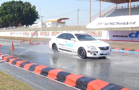 Wet braking test