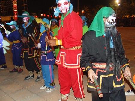 The Eng Kor Pa Bu dancers perform in Naklua.