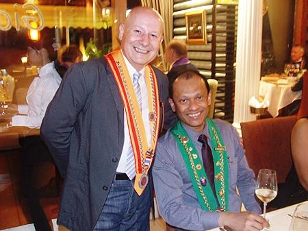 (L to R) Guido Vietri, owner of Gian's and Ranjith Chandrasiri.