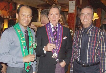 (L to R) Bailli Ranjith Chandrasiri; Remy D. Hofmann, and Mr. Harry.