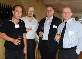 (L to R) Ian Robertson, Markus Wehrhahn, Garry Irvin, and Mike Holloway.