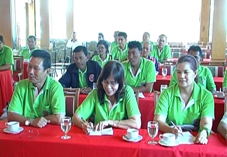 Organizers meet to discuss preparations for the upcoming Green Night Party to be held at the Ruen Thai Restaurant on Feb. 25.