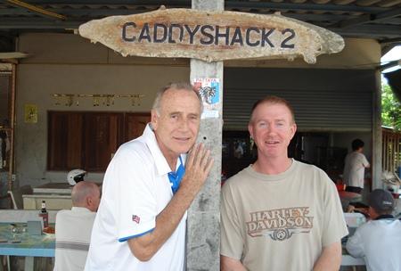 Wednesday winner Dale Murphy, left, with runner-up Paul Evans.