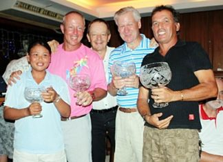 Captain's Day's winners: (Left to right) Sang, Jez, Pierre, Garry and Thierry