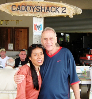Poottida & Dale Murphy celebrate their one-two finish at Pattaya Country Club.