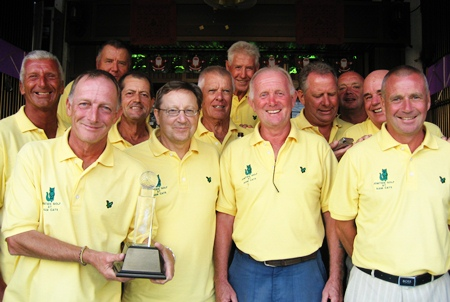 The victorious boys from Jomtien Golf pose for a photo after defeating the Backyard Golf Society at Emerald.