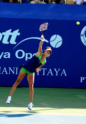 No. 2 seed Ana Ivanovic got off to a good start in her opening match against Thailand's Nudnida Luangnam.