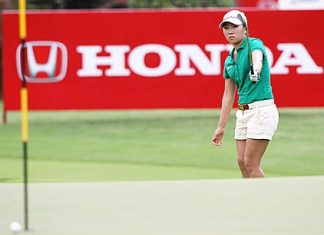 South Korea's In-Kyung Kim hits an approach shot during her round of 63 on Thursday.