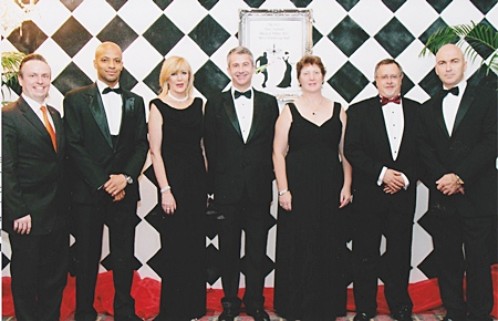 H.E. Bede Gilbert Corry (centre), Ambassador of New Zealand was guest of honour at the 'NZI New Zealand Black & White Ball 2011' organized by the New Zealand Society of Thailand at the Amari Watergate Bangkok recently. As usual Pierre Andre Pelletier (left), the effervescent GM of the Amari Watergate and Dermot Gale, the hotel's executive assistant manager were on hand to ensure that the function was a roaring success. Guests included Khalid Bardan, manager Emirates Airlines for Thailand & Indochina, Liz Mortensen, president of the New Zealand Society, Nikki Cox, president of New Zealand Thai Chamber of Commerce and Grant Signal, chief technical officer NZI.