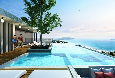 The rooftop terrace will feature a fitness studio and infinity pool.