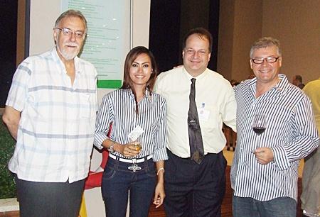 Chris Thatcher (Vice Chairman BCCT), Annda, Gerg Watkins (Executuve Director BCCT), Louis J. Van den Bergh (CEO 4A Properties).