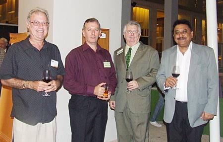 Kerry Matisin (Allied Pickfords), Brendan Richards, Alex Mavro, Peter Malhotra (MD Pattaya Mail Media Group).