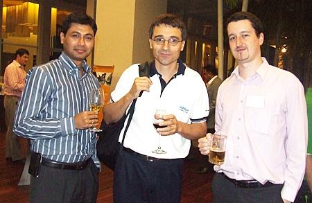 Praveen Jaduvanshi (President Wendt Grinding Technologies), Geoffroy Bousselin (MD Inergy Automotive Svstems), Damien Kerneis (Geodis Wilson Thai Ltd).