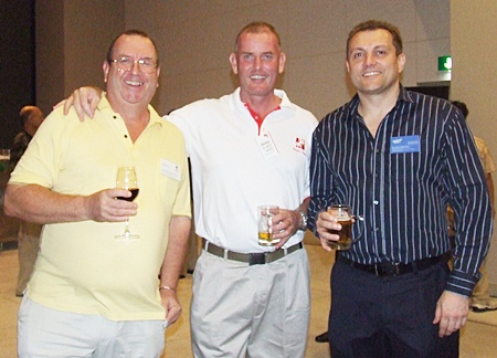 John Clarke (CEO Forbears Freedom Wealth Management), Paul Salisbury (TPME Group), Darrell Cutis (Bangkok Pools).