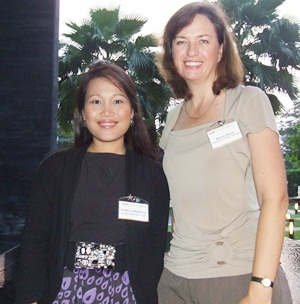 Jurairat Jammanee and Belinda Skinner, charming directors of AustCham Thailand.