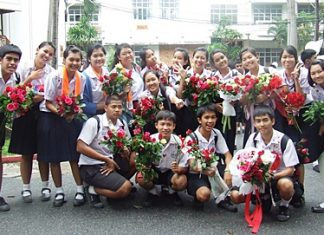 Graduates from Photisampan School say farewell to this chapter of their lives.