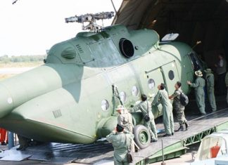 It took two years, but the Russian built Mi-17V5 helicopters finally arrived at U-Tapao Pattaya International Airport Feb. 12.