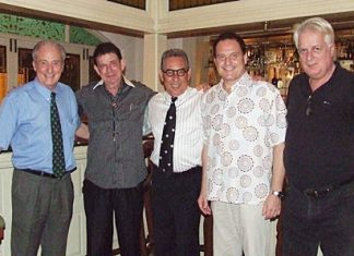 (L to R) Dr Iain Corness, Dr. William van Ewijk, Louis Noll, Dr Olivier Meyer, and Dr. Philippe Seur - four doctors and an excellent host gather for the first time in Pattaya.