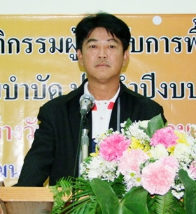 Chonburi Gov. Wichit Chatpaisit presides over the opening of a drug rehabilitation camp in Chonburi.