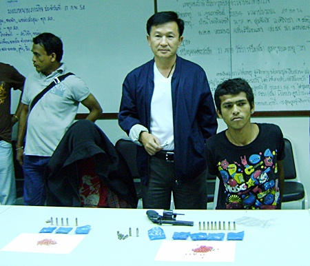Watchara Tungkaburana has been arrested for allegedly shooting undercover Laem Chabang police officer.