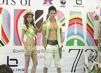 Models show off the new Bowling fashion designs at Mike Shopping Mall on Monday, Feb. 28.