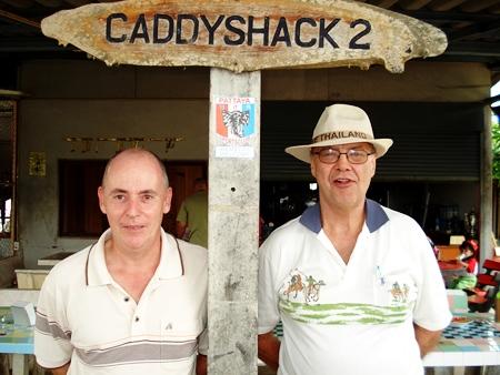 Winner Richard Hall, left, with runner-up Eddie Kristianson.