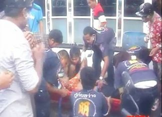 Medical Officers tend to the injured men