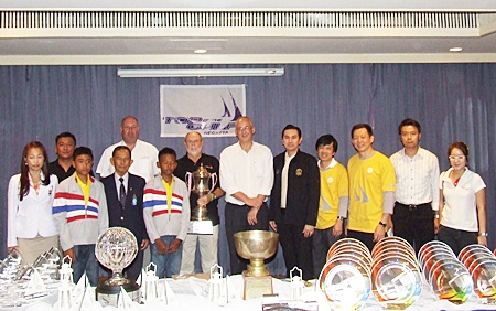The organising committee of the 2011 Top of the Gulf Regatta pose for a group photo at a press conference held Friday, April 29 at Ocean Marina Yacht Club,.