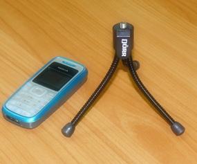 Mini-tripod for the camera bag.