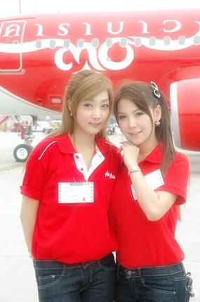 The beautiful Thai AirAsia crew.