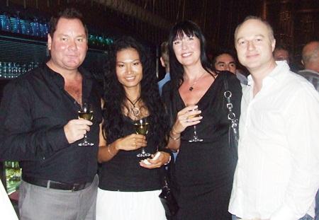 Glenn, Joejo, Karen and Tim Bunker make a pretty picture.