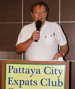 Max Rommel, founding member and former Pattaya City Expats Club Chairman, current Board member, and the Club Historian, spoke of the beginnings of the club one decade ago.