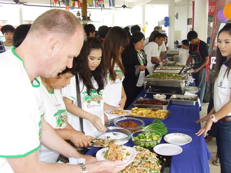 The Royal Varuna puts on a great spread of food for these special children.