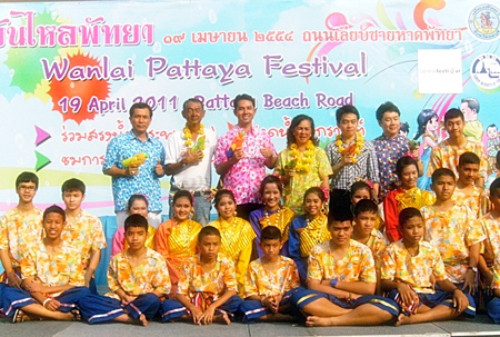 Pattaya officials, water pistols at the ready, announce this year's itinerary for the local Songkran Festival April 19.