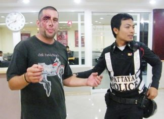 "Philip Champreks complains to police about how he was beaten for ""having fun"" on a baht bus."