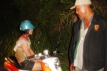 Prakai Prasith was slightly when she crashed her motorbike whilst trying to flee the scene of the robbery.
