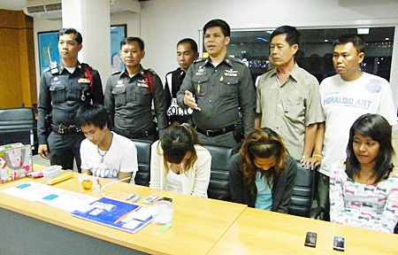 All four have been charged with possession of Class 1 narcotics with intent to sell.