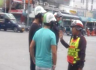 Police randomly stop road users