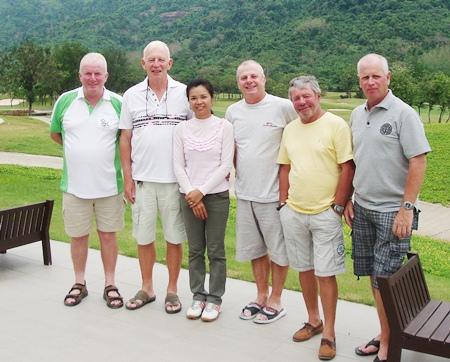 The winners at Royal Hills (from left to right) Ed Delaney, John Stafford, Mon Bennett, Sel Wegner, Bernie Stafford and Paul Greenaway.