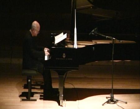 Einaudi plays one of his pieces at Mahidol University, Monday, May 2.